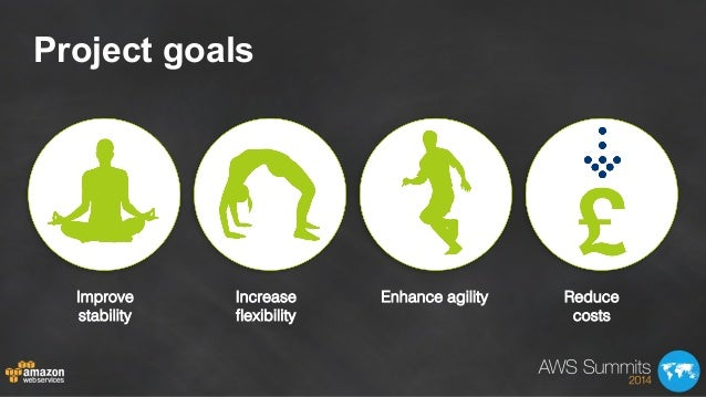 Project goals Improve stability! Increase flexibility! Enhance agility! Reduce costs!