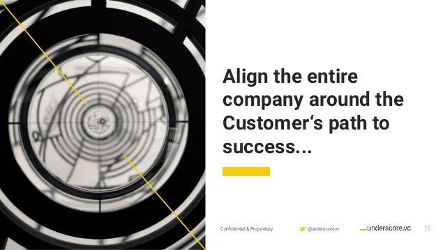 Confidential & Proprietary @underscorevc Align the entire company around the Customer's path to success... 15