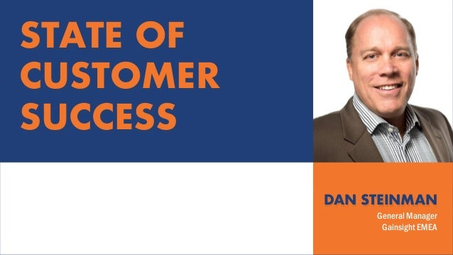 DAN STEINMAN General Manager Gainsight EMEA STATE OF CUSTOMER SUCCESS