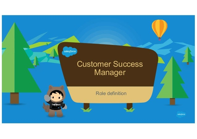 Customer Success Manager ​ Role definition