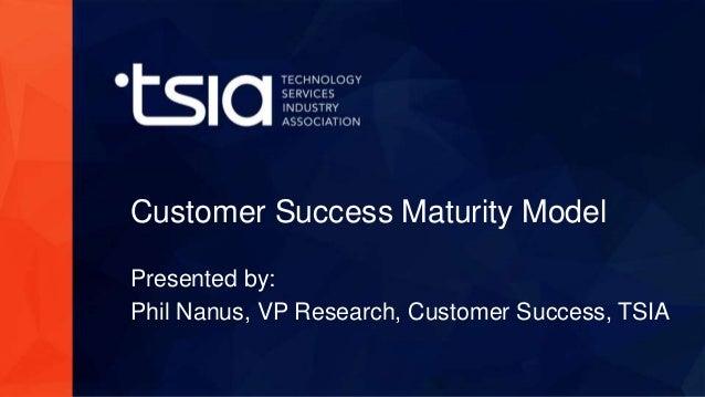www.tsia.com Customer Success Maturity Model Presented by: Phil Nanus, VP Research, Customer Success, TSIA