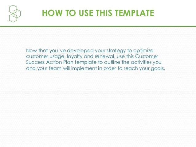 Customer Success Plan Template Slide 2