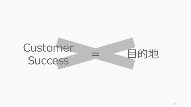 79 Customer Success ⽬的地=