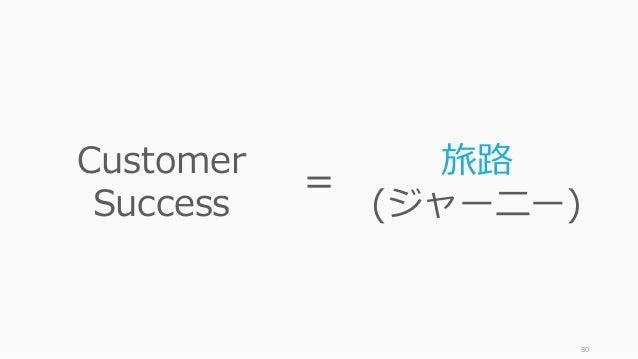 80 Customer Success 旅路 (ジャーニー) =