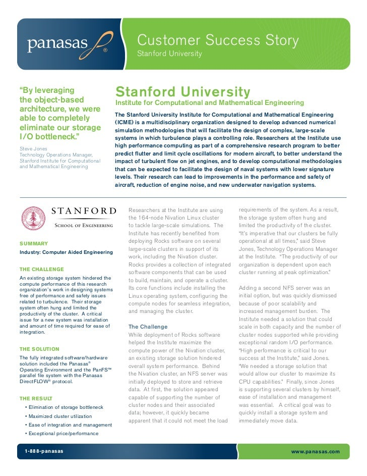 """Customer Success Story                                                   Stanford University""""By leveragingthe object-based..."""