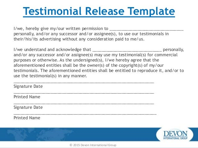 Testimonial request form design templates slideshare wajeb Images