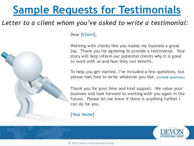 Customer testimonial accmission Gallery