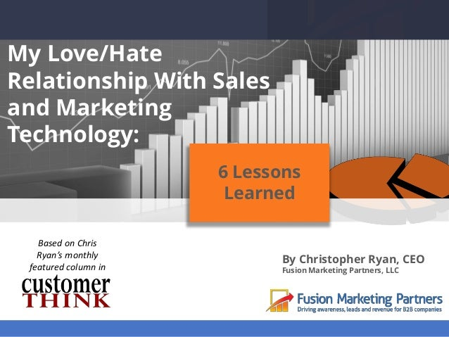 My Love/Hate Relationship With Sales and Marketing Technology: By Christopher Ryan, CEO Fusion Marketing Partners, LLC 6 L...