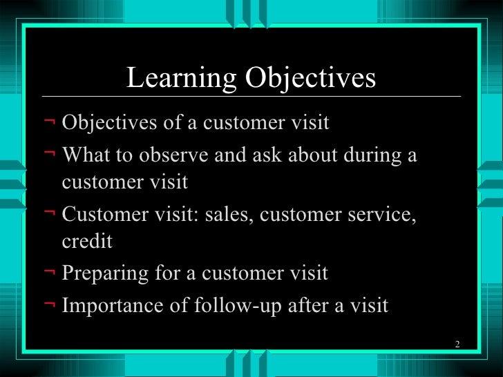 Customer Visits Slide 2