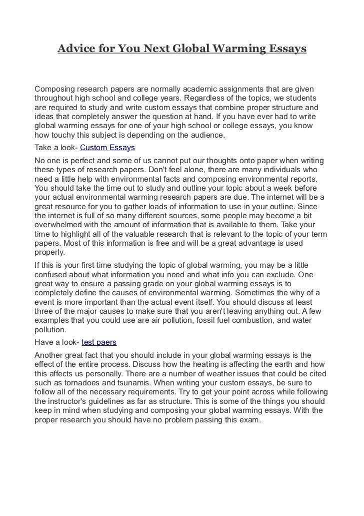global issues essay
