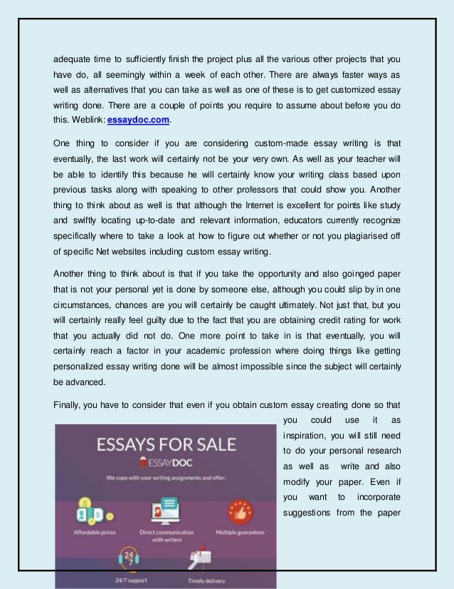 Custom essay for sale extended