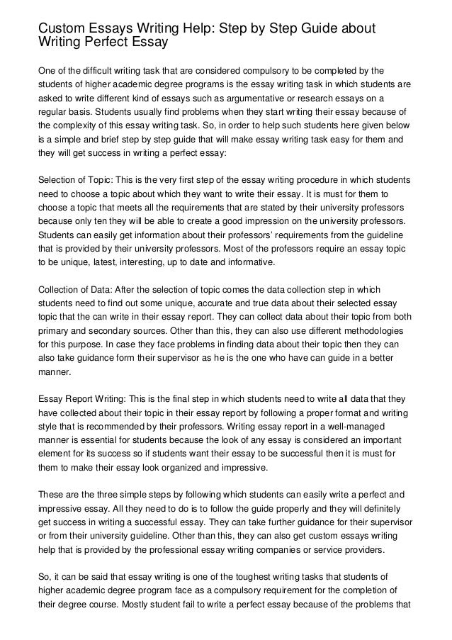 custom essays writing help step by step guide about writing perfect  custom essays writing help step by step guide about writing perfect essay one of the