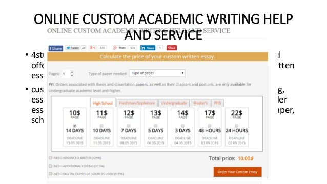 Help writing an essay online service