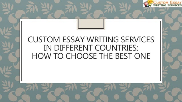 Good custom essay service