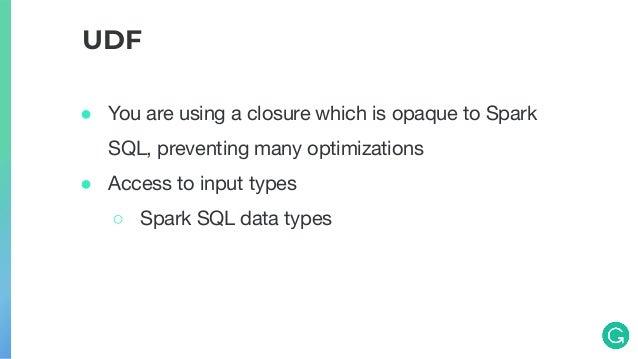 Spark SQL Catalyst Optimizer, Custom Expressions, UDFs