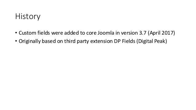 Custom fields in Joomla March 2019 Slide 2