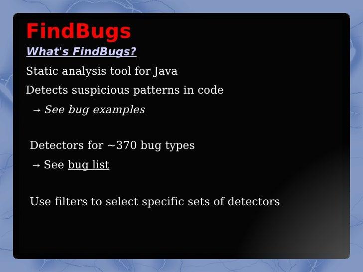 findbugs writing custom detectors
