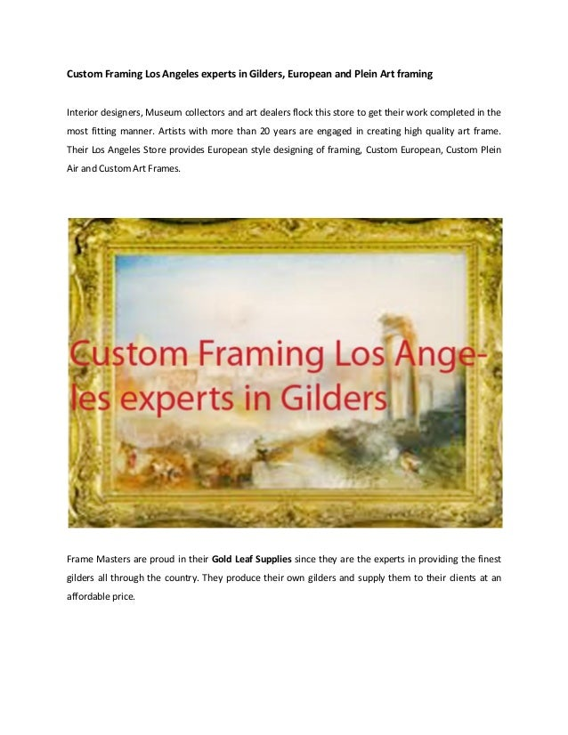 picture frame stores los angeles