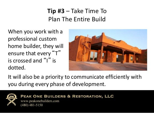 3 tips on custom home building for Custom home building tips