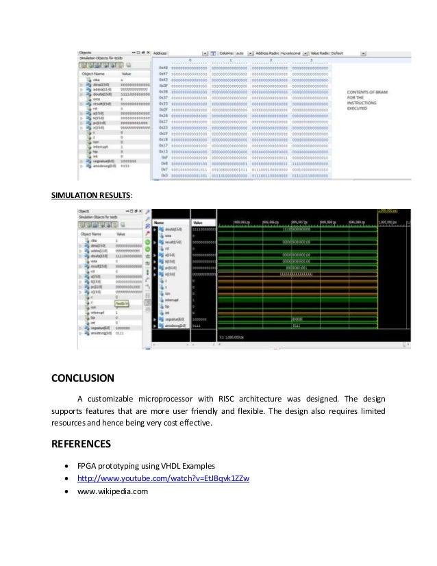 Customizable Microprocessor design on Nexys 3 Spartan FPGA Board