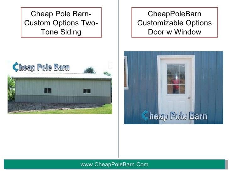 Customizable Options By Cheappolebarn Com