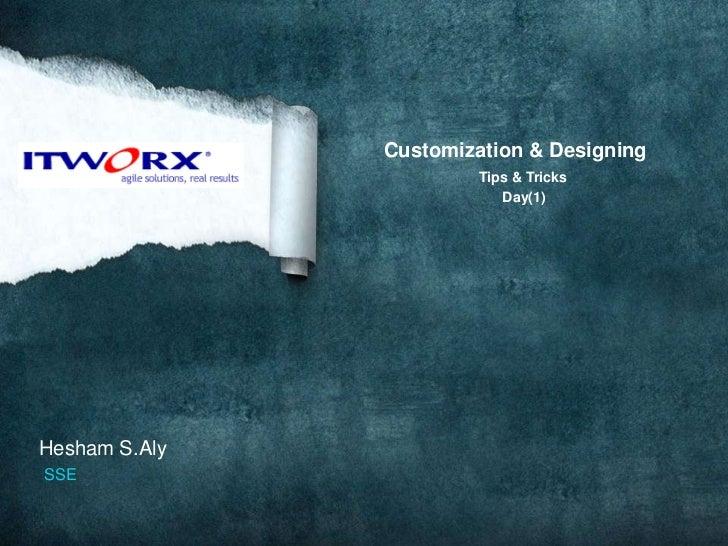 Customization & Designing<br />Tips & Tricks<br />                                   Day(1)<br />  Hesham S.Aly<br />SSE<b...