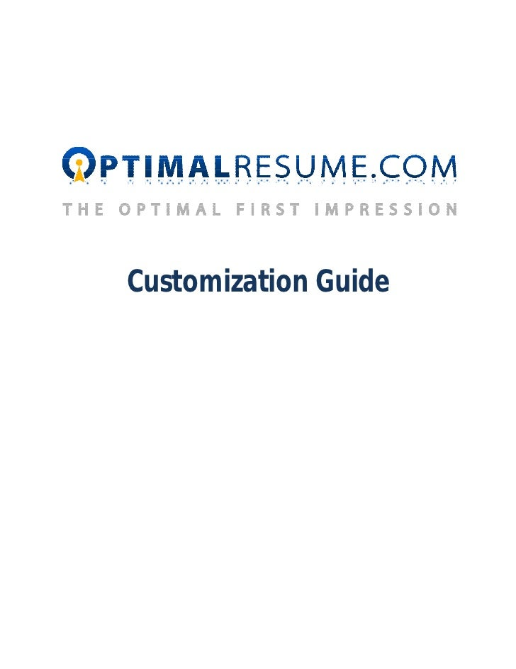 Optimal Resume Customization Manual