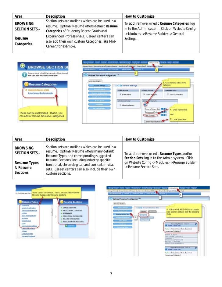 Optimal Resume Customization Manual  Optimal Resume Acc