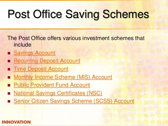 Customized investment - Post office savings rates ...