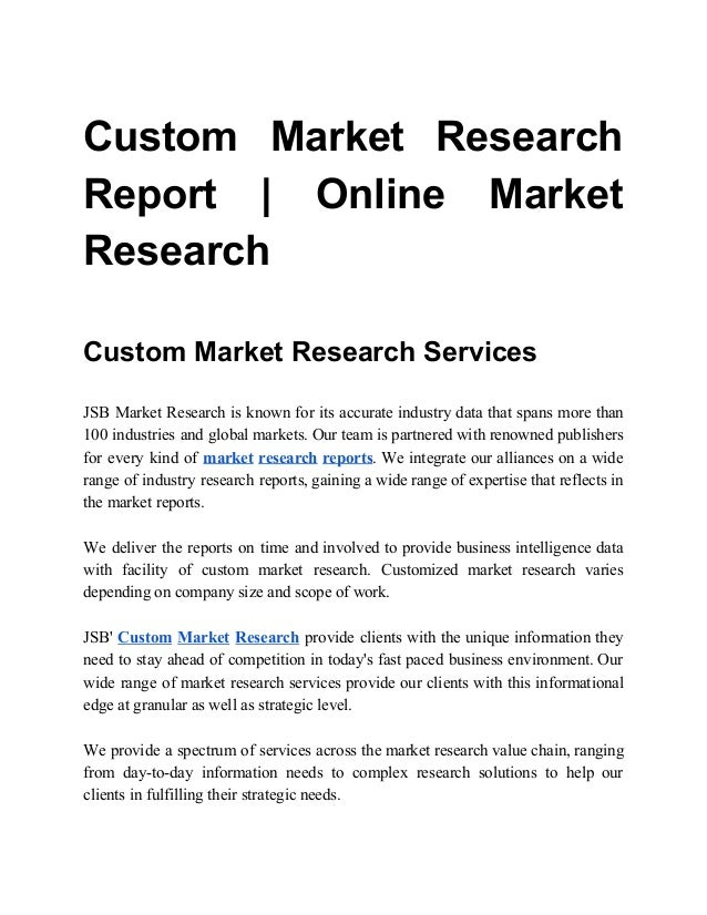 online market research reports