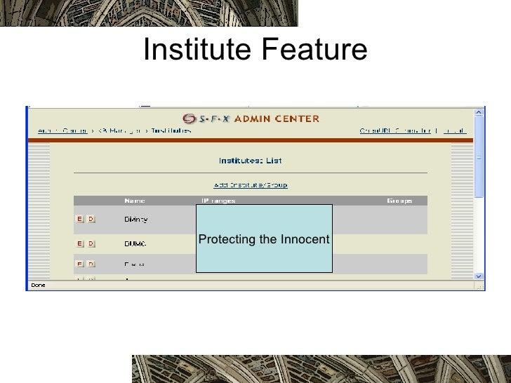 Institute Feature Protecting the Innocent