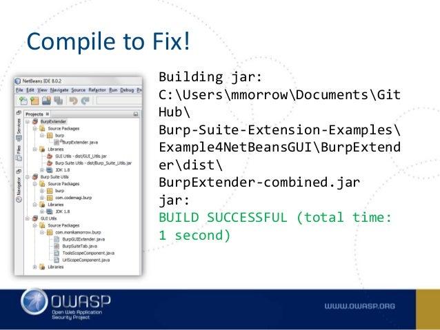 AppSec USA 2015: Customizing Burp Suite