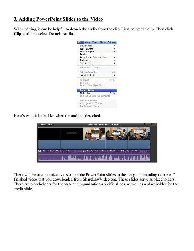 Customizing a video in iMovie