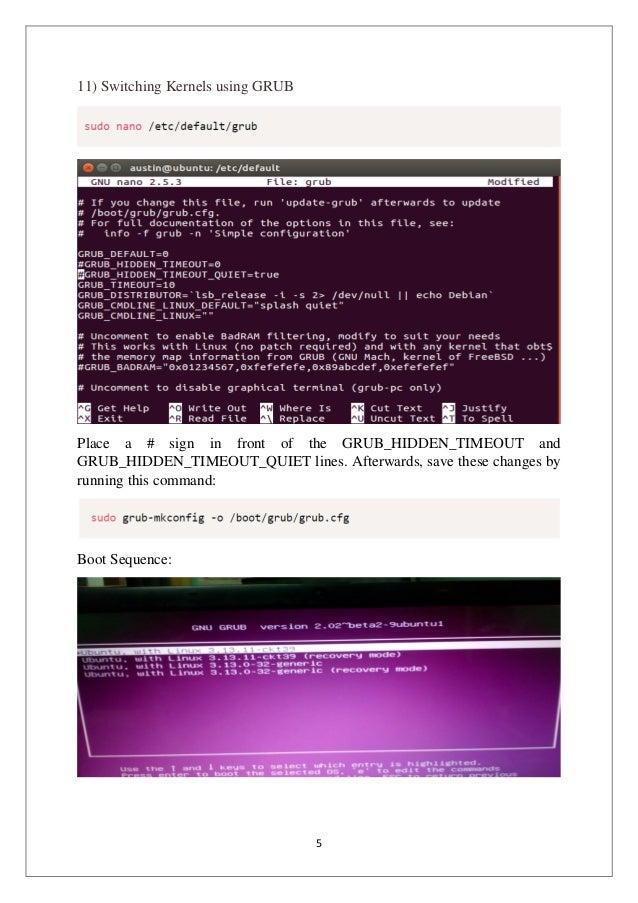 Custom kernel creation