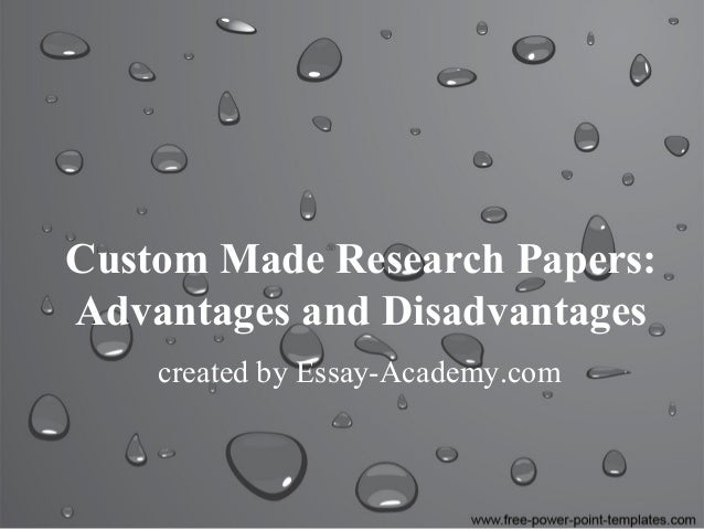 Advantages and disadvantages of technology research paper