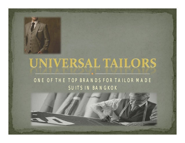 ONE OF THE TOP BRANDS FOR TAILOR MADE SUITS IN BANGKOK
