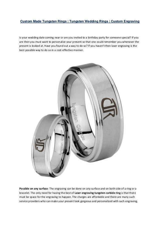 Custom Tungsten Carbide Rings Tungsten Wedding Rings