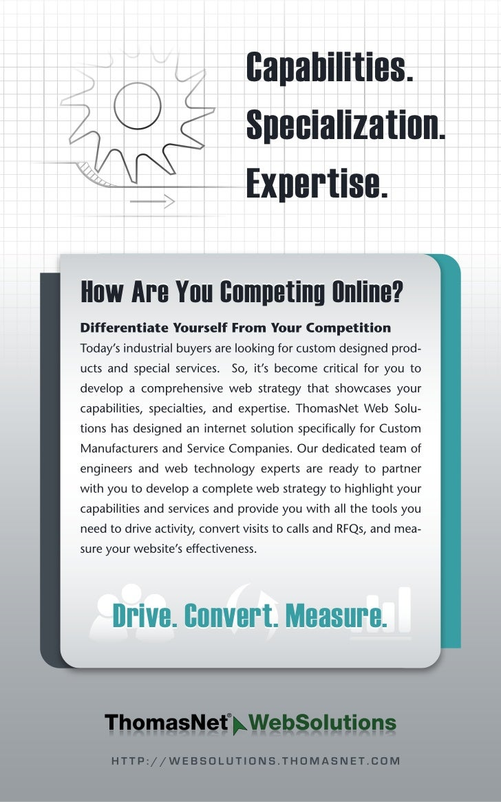 Capabilities.              Specialization.              Expertise.How Are You Competing Online?  Drive. Convert. Measure.