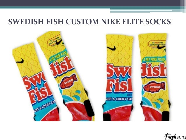 055c22a096add2 6. SWEDISH FISH CUSTOM NIKE ELITE SOCKS ...