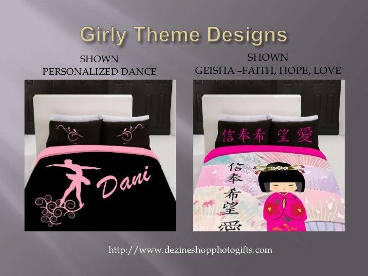 Girly Theme Designs<br />Shown <br />Geisha –Faith, Hope, Love<br />Shown <br />Personalized Dance<br />               htt...