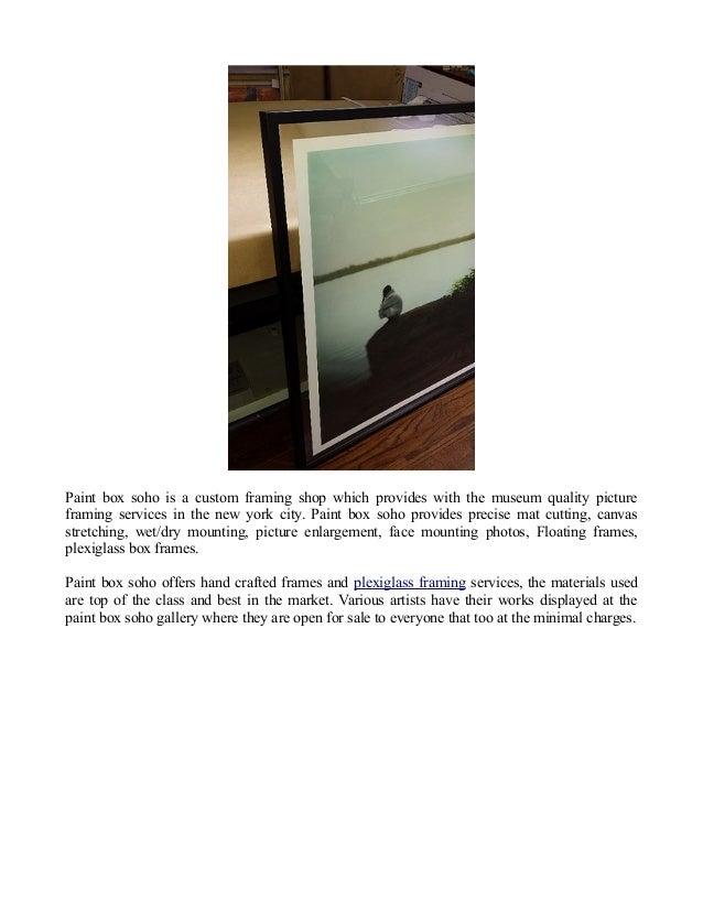 Custom Picture Frames – Paintbox Soho