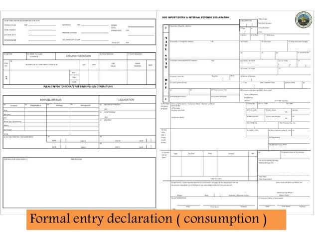 Customs Clearance - Procedure 42