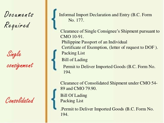 procedure for import and export Including importing goods, exporting goods and obtaining import and export  permits this procedure assists customs services to best.
