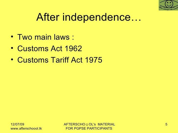 Customs Act 1967