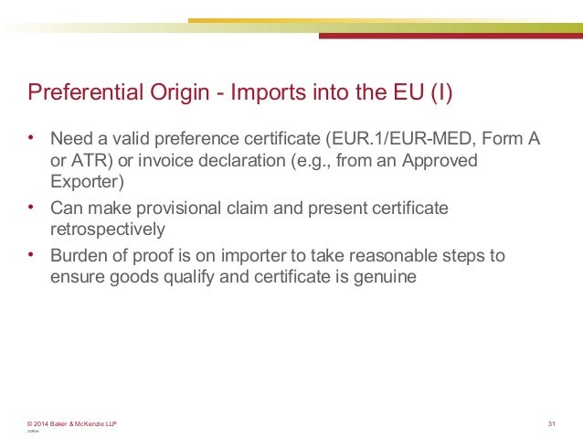 Customs how to determine the origin of your products eu webinar 31 preferential origin yadclub Image collections