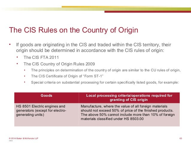 Customs how to determine the origin of your products eu webinar country of origin in the cis 63 yelopaper Gallery