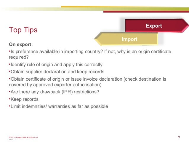 Customs how to determine the origin of your products eu webinar 77 yelopaper Gallery