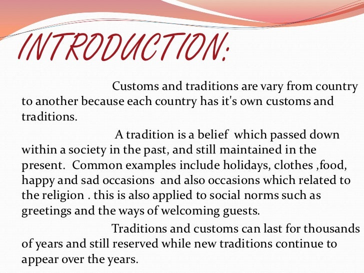 essay on a family tradition