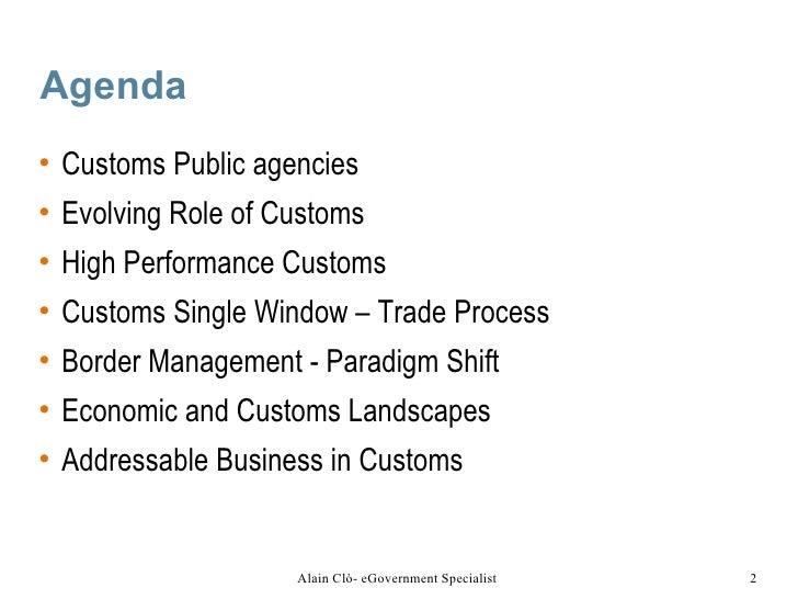 Customs and Border Management Slide 2