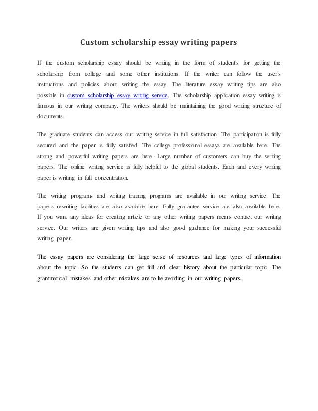 custom scholarship essay writing papers custom scholarship essay writing papers if the custom scholarship essay  should be writing in the form